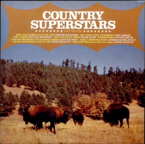 Various-Country Country Superstars Volume One vinyl LP album (LP record) UK CVALPCO512421