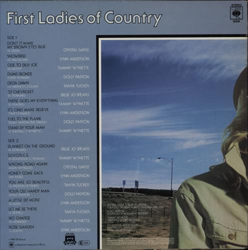 Various-Country First Ladies Of Country vinyl LP album (LP record) UK CVALPFI750978