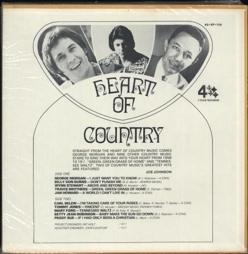 Various-Country Heart Of Country vinyl LP album (LP record) US CVALPHE699831