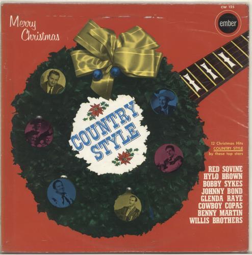 Various-Country Merry Christmas, Country Style vinyl LP album (LP record) UK CVALPME569824