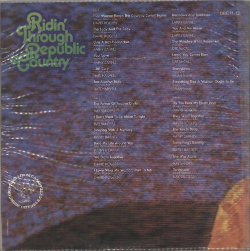Various-Country Ridin' Through Republic Country 2-LP vinyl record set (Double Album) UK CVA2LRI699783
