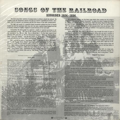 Various-Country Songs Of The Railroad vinyl LP album (LP record) US CVALPSO717793