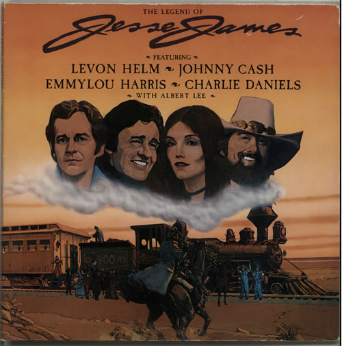 Various-Country The Legend Of Jesse James - Gold Promo Stamped vinyl LP album (LP record) UK CVALPTH289805
