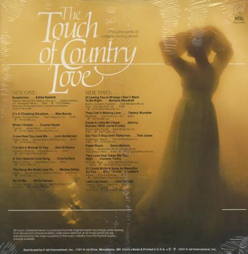 Various-Country The Touch Of Country Love - Sealed vinyl LP album (LP record) US CVALPTH306233