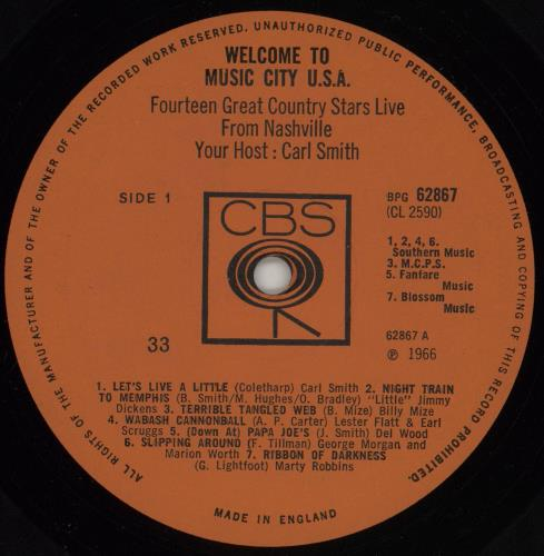 Various-Country Welcome To Music City U.S.A. - 1st Mono vinyl LP album (LP record) UK CVALPWE757175