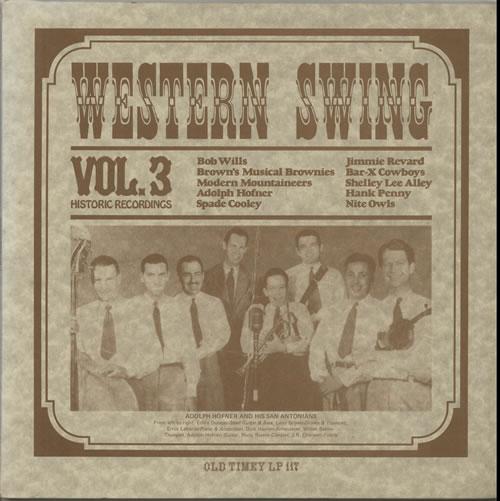 Various-Country Western Swing Vol.3 vinyl LP album (LP record) US CVALPWE632371