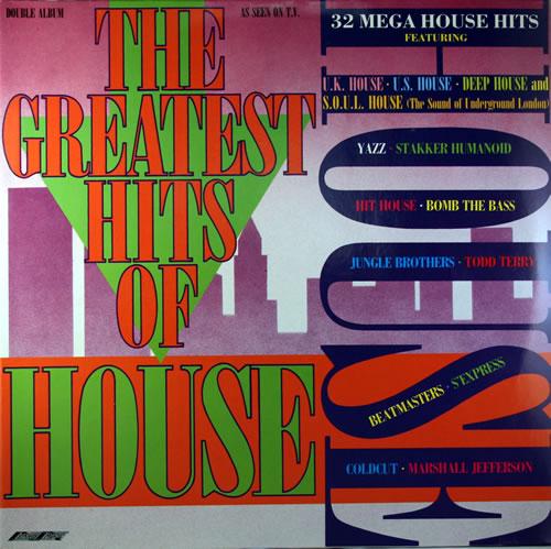 Various-Dance Greatest Hits Of House 2-LP vinyl record set (Double Album) UK D.V2LGR558574