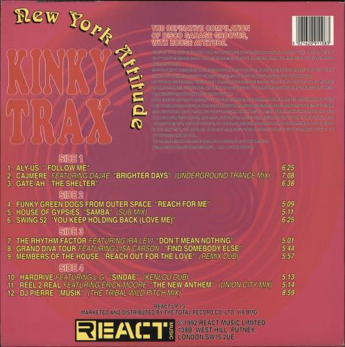 Various-Dance Kinky Trax: New York Attitude 2-LP vinyl record set (Double Album) UK D.V2LKI719405
