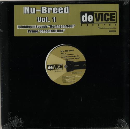 "Various-Dance Nu-Breed Vol.1 12"" vinyl single (12 inch record / Maxi-single) US D.V12NU651363"