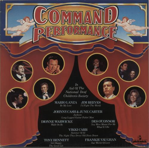 Various-Easy Listening Command Performance vinyl LP album (LP record) UK VLELPCO666989