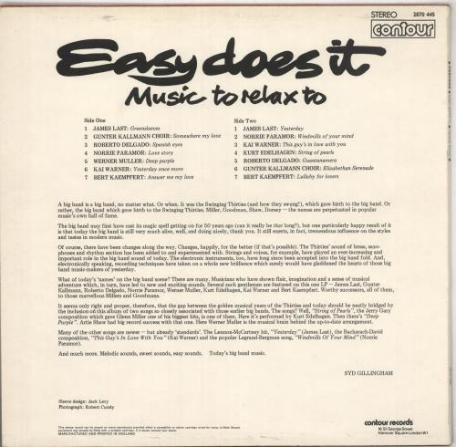 Various-Easy Listening Easy Does It vinyl LP album (LP record) UK VLELPEA740969