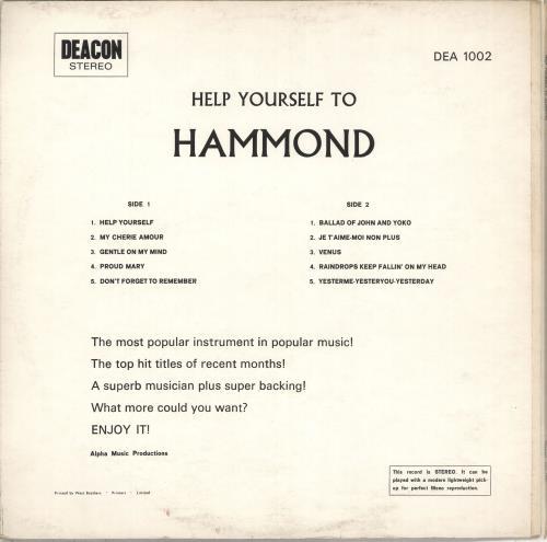 Various-Easy Listening Help Yourself To Hammond vinyl LP album (LP record) UK VLELPHE711462