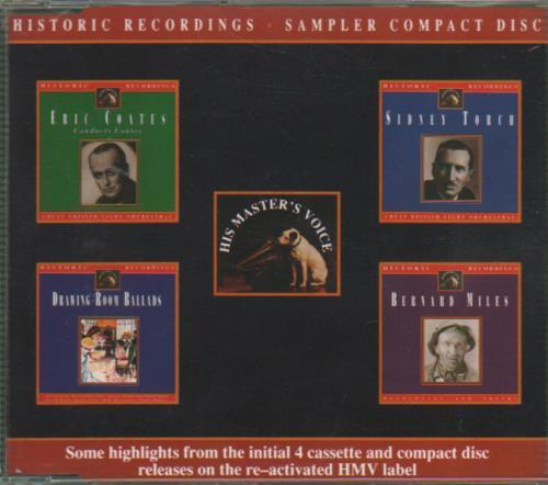Various-Easy Listening Historic Recordings - Sampler Compact Disc CD album (CDLP) UK VLECDHI650147