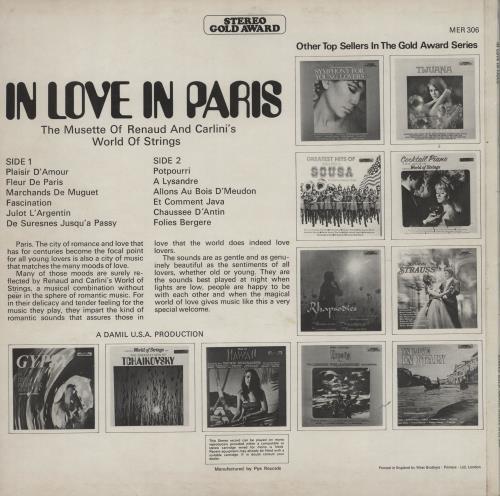 Various-Easy Listening In Love In Paris vinyl LP album (LP record) UK VLELPIN760714