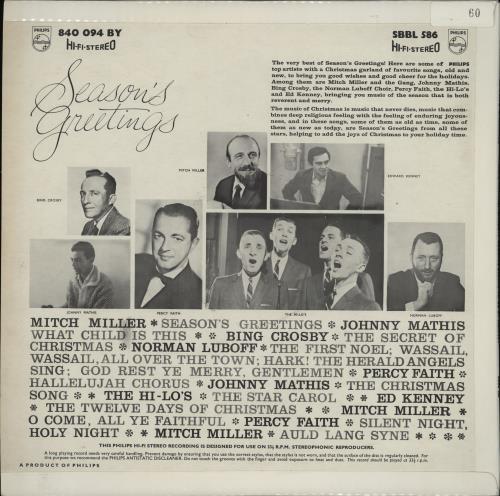 Various-Easy Listening Season's Greetings: A Christmas Festival Of Stars! vinyl LP album (LP record) UK VLELPSE762518