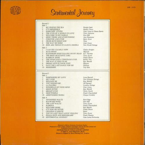 Various-Easy Listening Sentimental Journey 2-LP vinyl record set (Double Album) UK VLE2LSE769580