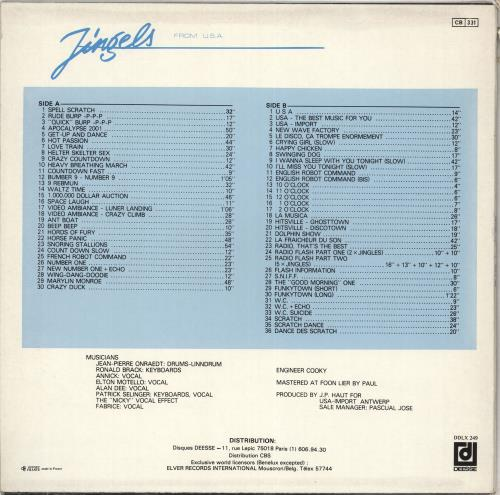 Various-Educational, Informational & Historical 70 Jingels From U.S.A. Vol.3 vinyl LP album (LP record) French VBZLPJI712311