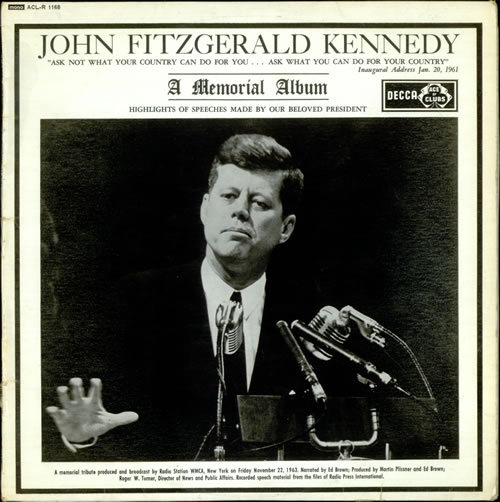 Various-Educational, Informational & Historical John Fitzgerald Kennedy vinyl LP album (LP record) UK VBZLPJO529339