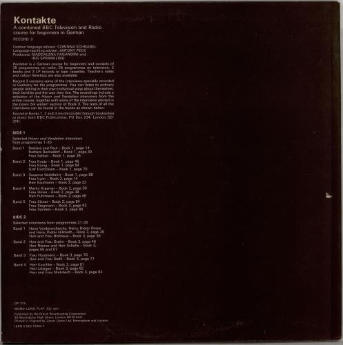 Various-Educational, Informational & Historical Kontakte 3 vinyl LP album (LP record) UK VBZLPKO764747