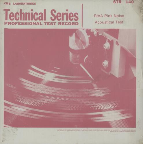 Various-Educational, Informational & Historical RIAA Pink Noise Acoustical Test - Sealed vinyl LP album (LP record) US VBZLPRI660627