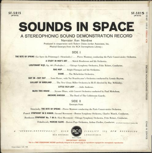 Various-Educational, Informational & Historical Sounds In Space vinyl LP album (LP record) UK VBZLPSO732897