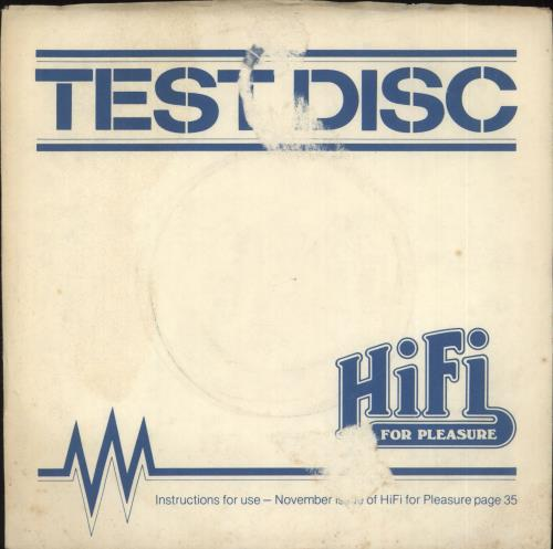 "Various-Educational, Informational & Historical Test Disc 7"" vinyl single (7 inch record) UK VBZ07TE690296"