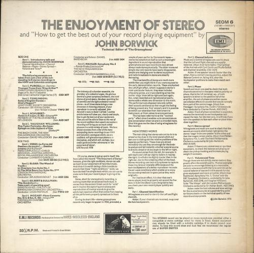 Various-Educational, Informational & Historical The Enjoyment Of Stereo & How To Get The Best Out Of Your Record Playing Equipment vinyl LP album (LP record) UK VBZLPTH726967