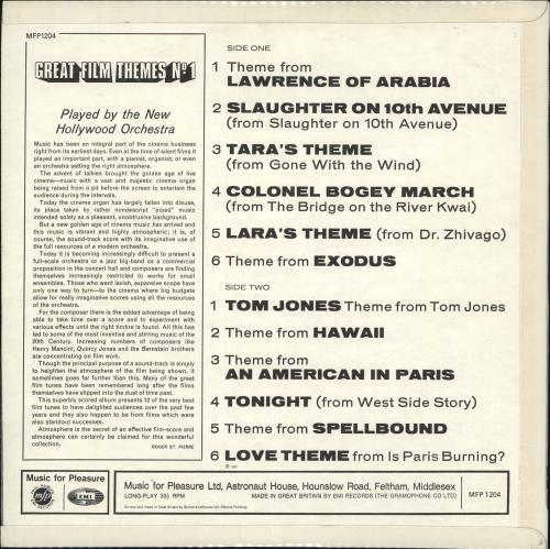 Various-Film, Radio, Theatre & TV Great Film Themes No. 1 vinyl LP album (LP record) UK FVALPGR708210