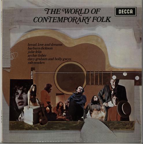 Various-Folk The World Of Contemporary Folk vinyl LP album (LP record) UK V-FLPTH647010