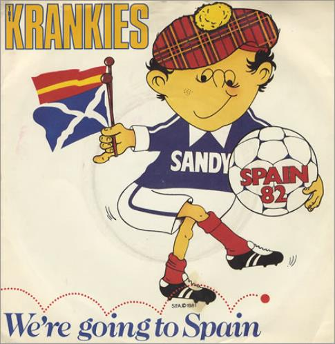 """Various-Football & Sport We're Going To Spain 7"""" vinyl single (7 inch record) UK FSP07WE215601"""