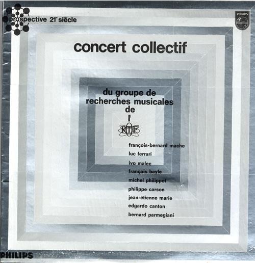 Various-Industrial & Avant-Garde Concert Collectif Du Groupe De Recherches Musicales... vinyl LP album (LP record) UK VR1LPCO560274