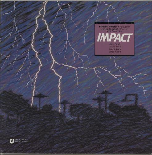 Various-Industrial & Avant-Garde Impact vinyl LP album (LP record) Canadian VR1LPIM687378