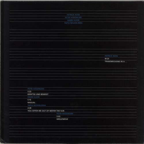 Various-Industrial & Avant-Garde Transmissions In A... vinyl LP album (LP record) German VR1LPTR687417