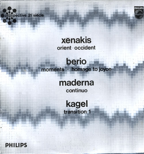 Various-Industrial & Avant-Garde Xenakis - Orient-Occident / Berio - Moments... vinyl LP album (LP record) UK VR1LPXE560270