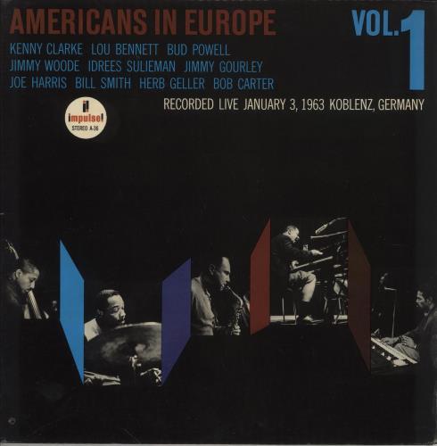 Various-Jazz Americans In Europe, Vol. 1 vinyl LP album (LP record) US V-JLPAM747746