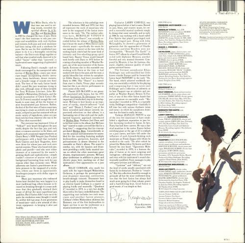 Various-Jazz Atlantic Jazz Fusion vinyl LP album (LP record) US V-JLPAT722655