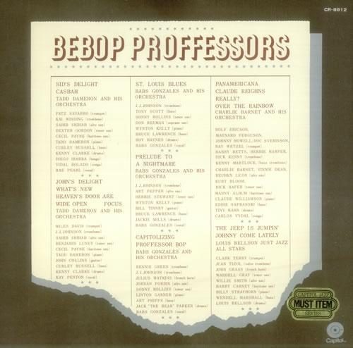 Various-Jazz Bepop Proffessors vinyl LP album (LP record) Japanese V-JLPBE543310