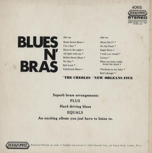 Various-Jazz Blues n' Bras vinyl LP album (LP record) UK V-JLPBL760366