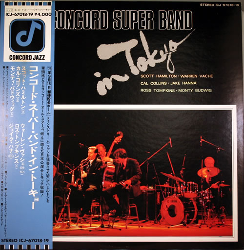 Various-Jazz Concord Super Band In Tokyo 2-LP vinyl record set (Double Album) Japanese V-J2LCO556125