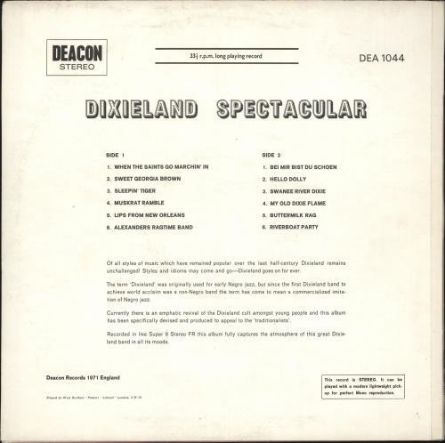 Various-Jazz Dixieland Spectacular vinyl LP album (LP record) UK V-JLPDI714791
