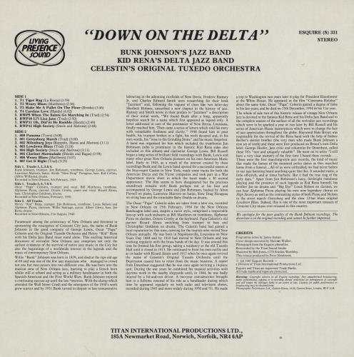 Various-Jazz Down On The Delta vinyl LP album (LP record) UK V-JLPDO761462