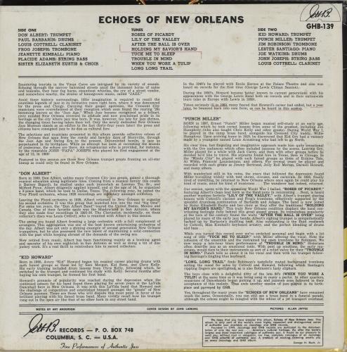 Various-Jazz Echoes Of New Orleans vinyl LP album (LP record) US V-JLPEC761344
