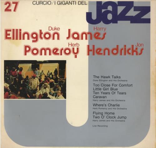 Various-Jazz I Giganti Del Jazz #27 vinyl LP album (LP record) Italian V-JLPIG403208