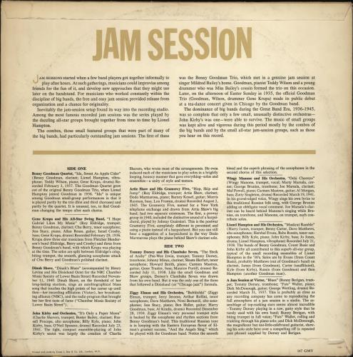 Various-Jazz Jam Session vinyl LP album (LP record) UK V-JLPJA766187