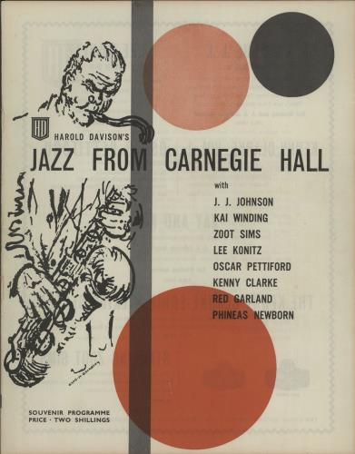Various-Jazz Jazz From Carnegie Hall tour programme UK V-JTRJA645657