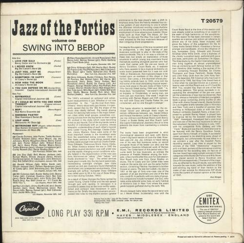 Various-Jazz Jazz Of The Forties Volume One vinyl LP album (LP record) UK V-JLPJA743292
