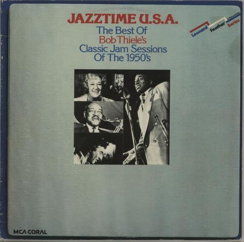 Various-Jazz Jazztime U.S.A. - The Best Of Bob Thiele's Classic Jam Sessions Of The 1950's 2-LP vinyl record set (Double Album) UK V-J2LJA674978