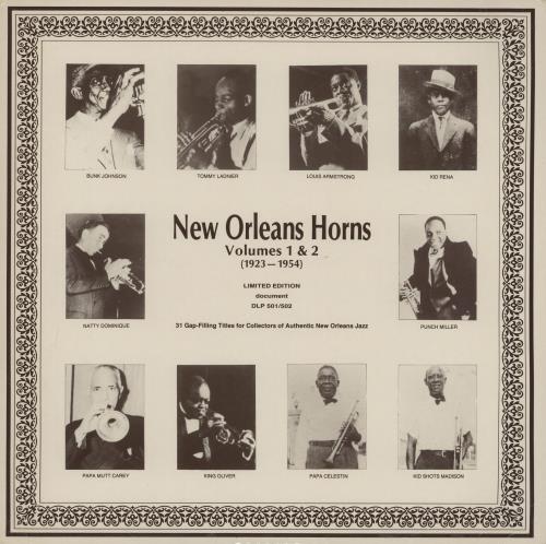 Various-Jazz New Orleans Horns (1923-1954) 2-LP vinyl record set (Double Album) Austrian V-J2LNE761454