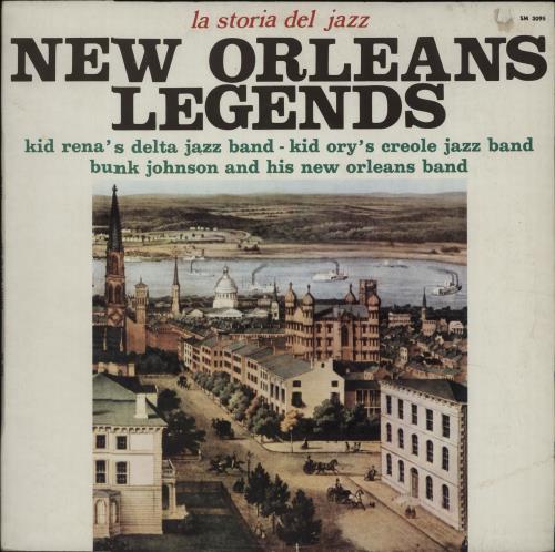 Various-Jazz New Orleans Legends vinyl LP album (LP record) Italian V-JLPNE675627