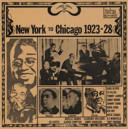 Various-Jazz New York To Chicago 1923-28 vinyl LP album (LP record) US V-JLPNE462107